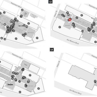 Ala Moana Center plan - map of store locations