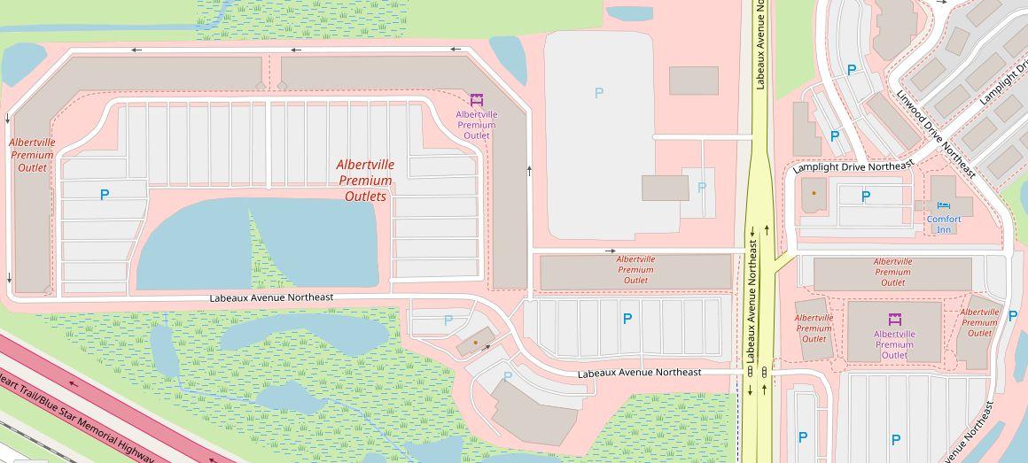 Albertville Outlet Mall Map Albertville Premium Outlets (86 stores)   outlet shopping in