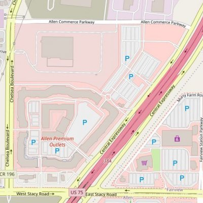 Allen Premium Outlets plan - map of store locations