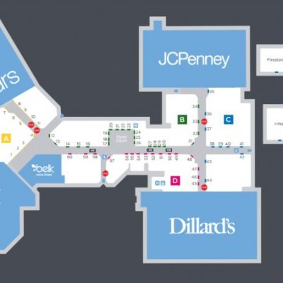 Anderson Mall plan - map of store locations