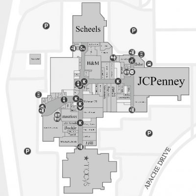 Apache Mall plan - map of store locations