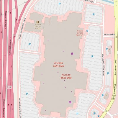 Arizona Mills plan - map of store locations