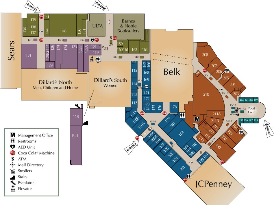 Asheville Mall Map Asheville Mall (111 stores)   shopping in Asheville, North