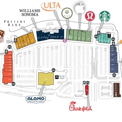 Aspen Grove plan - map of store locations