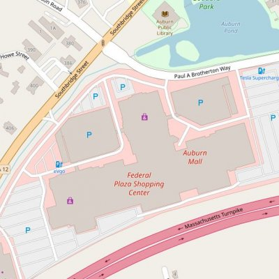 Auburn Mall plan - map of store locations