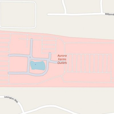 Aurora Farms Premium Outlets plan - map of store locations