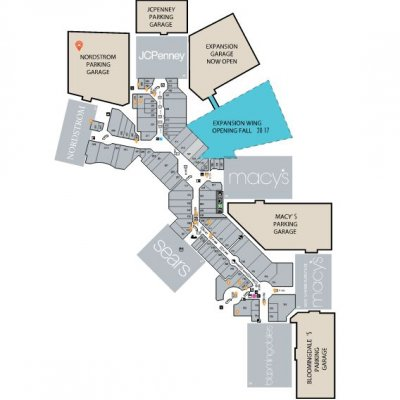 Aventura Mall plan - map of store locations
