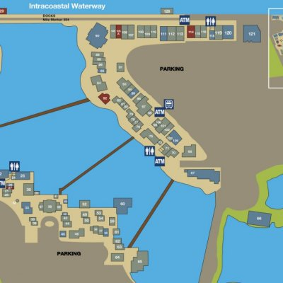 Barefoot Landing plan - map of store locations