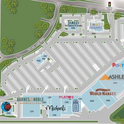Baybrook Gateway plan - map of store locations