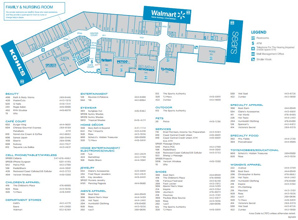Bayshore Mall (65 stores) - shopping in Eureka, California