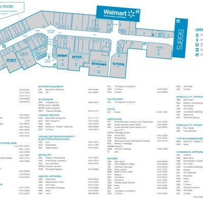 Bayshore Mall plan - map of store locations