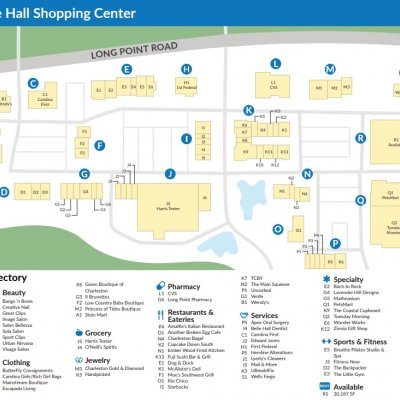 Belle Hall Shopping Center plan - map of store locations