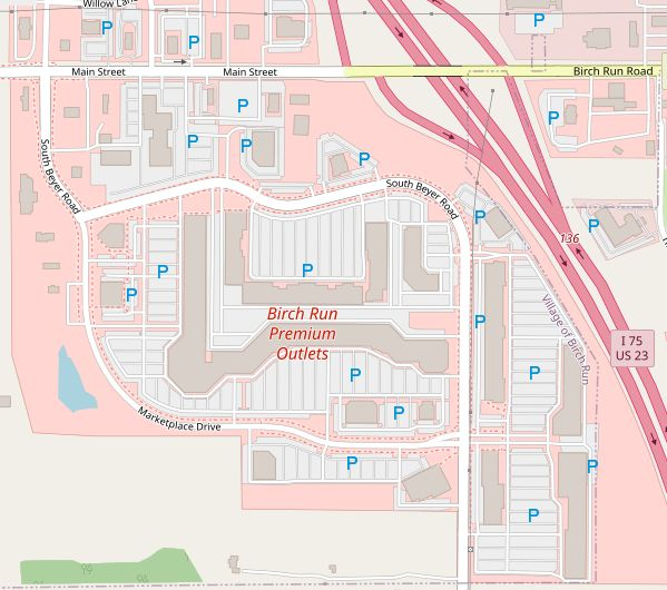 Birch Run Outlet Map Birch Run Premium Outlets (119 stores)   outlet shopping in Birch