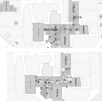 Boise Towne Square plan - map of store locations