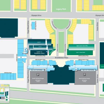 Brambleton Town Center plan - map of store locations