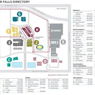 Bridgewater Falls plan - map of store locations