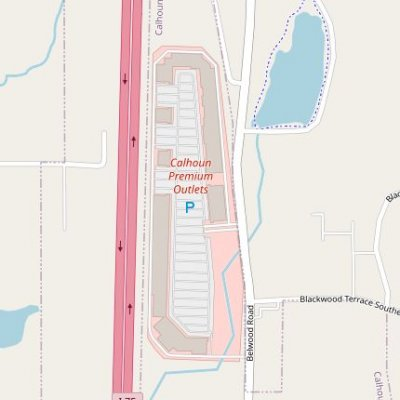 Calhoun Outlet Marketplace plan - map of store locations
