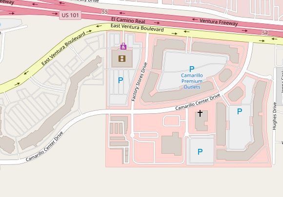 Camarillo Outlet Map Camarillo Premium Outlets (155 stores)   outlet shopping in