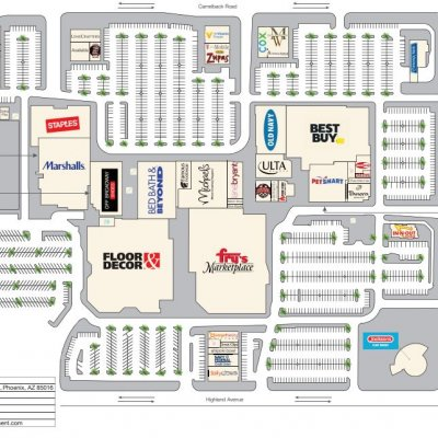 Camelback Colonnade plan - map of store locations