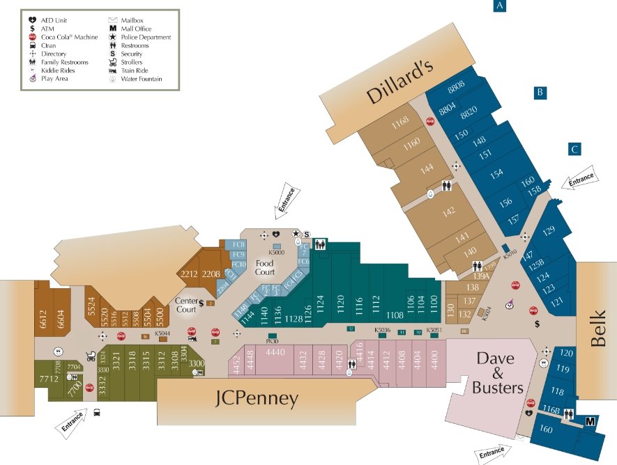 Cary Towne Center Map Cary Towne Center (83 stores)   shopping in Cary, North Carolina