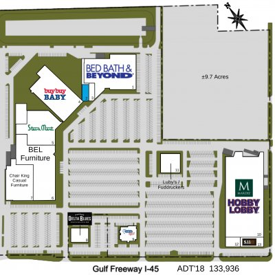 Center At Baybrook plan - map of store locations