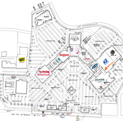 Centerpointe Mall plan - map of store locations