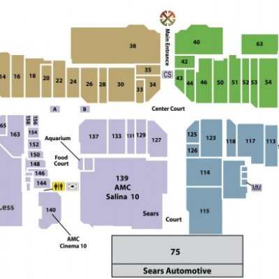 Central Mall Salina plan - map of store locations