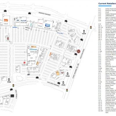 Centre At Preston Ridge plan - map of store locations