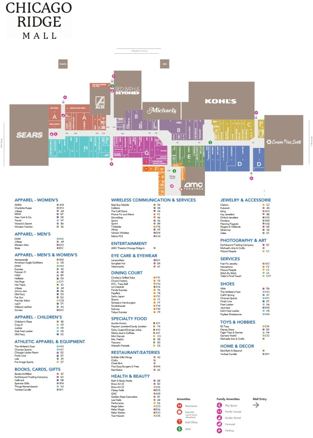 Chicago Ridge Mall (123 stores) - shopping in Chicago Ridge ... on