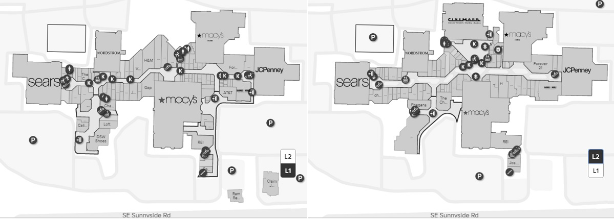 Clackamas Town Center Map Clackamas Town Center (162 stores)   shopping in Happy Valley
