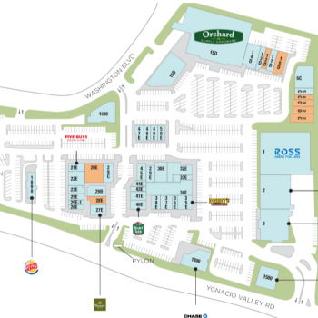 Clayton Valley Shopping Center plan - map of store locations