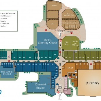 Coastal Grand Mall plan - map of store locations