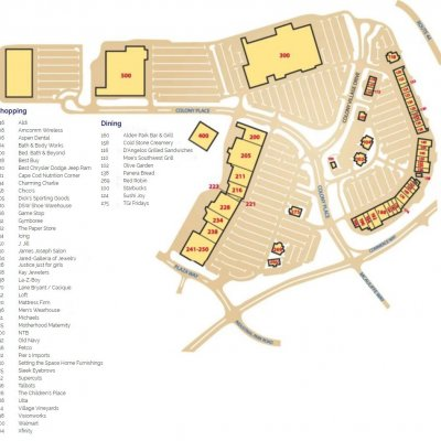 Colony Place in Plymouth plan - map of store locations