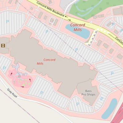 Concord Mills plan - map of store locations