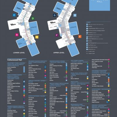 Cottonwood Mall plan - map of store locations