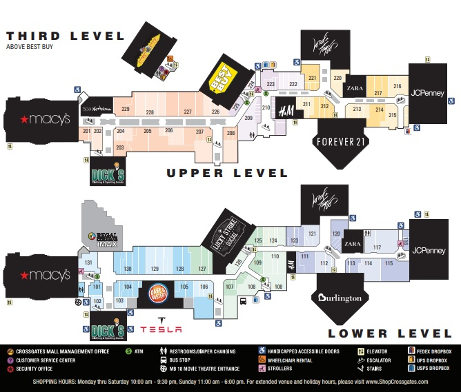 Crossgates Mall Map Crossgates Mall (203 stores)   shopping in Albany, New York NY  Crossgates Mall Map
