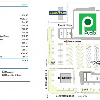 Crystal Beach Plaza plan - map of store locations