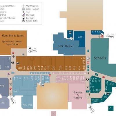 Dakota Square Mall plan - map of store locations
