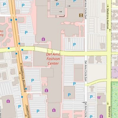 Del Amo Fashion Center plan - map of store locations