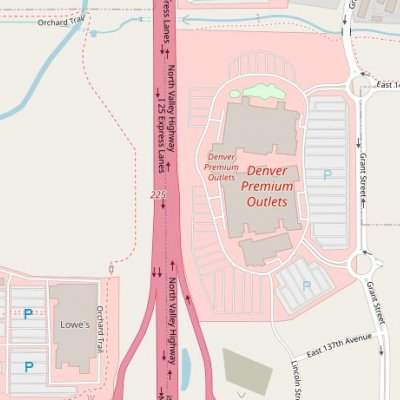 Denver Premium Outlets plan - map of store locations