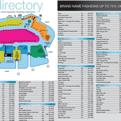 Fashion Outlets of Las Vegas plan - map of store locations