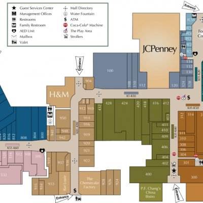 Fayette Mall plan - map of store locations
