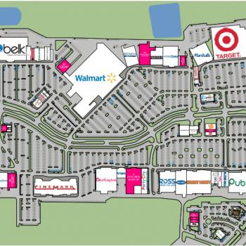 Fayette Pavillion plan - map of store locations