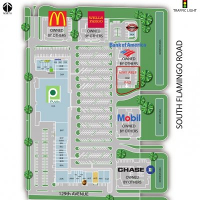 Flamingo Pines Square Shopping Center plan - map of store locations