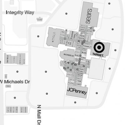 Fox River Mall plan - map of store locations