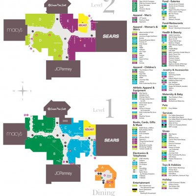 Fox Valley Mall plan - map of store locations