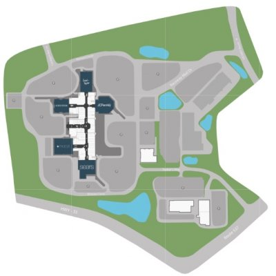 Freehold Raceway Mall plan - map of store locations