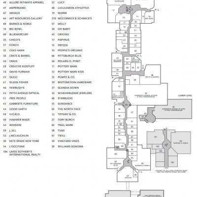 Galleria Edina plan - map of store locations