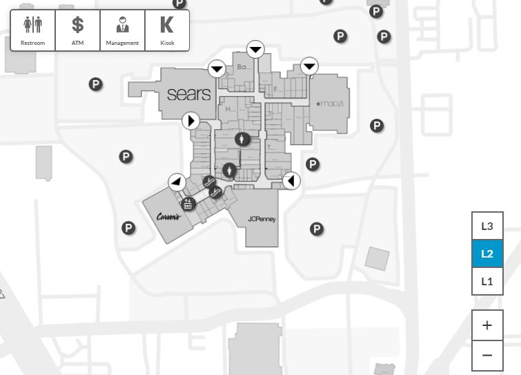 Glenbrook Mall Map Glenbrook Square (125 stores)   shopping in Fort Wayne, Indiana IN  Glenbrook Mall Map