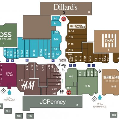 Golden Triangle Mall plan - map of store locations